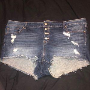 Plus size torrid jean shorts